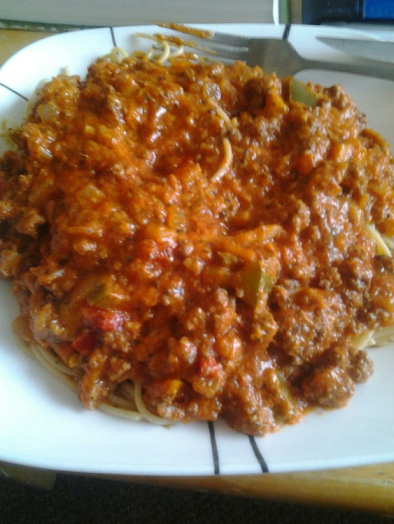 carrot and beef spaghetti