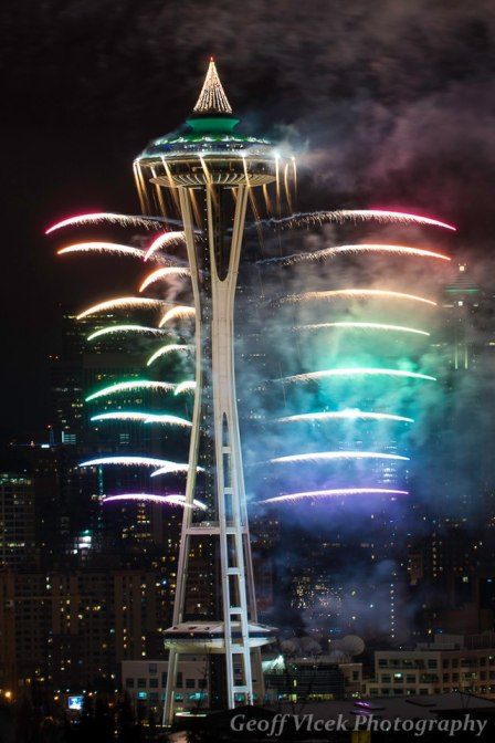 Seattle Space Needle New Year's Eve 2013