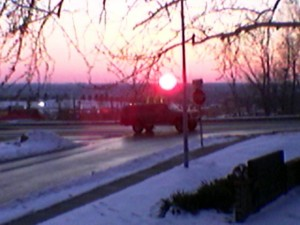 Sunset in January, 2007